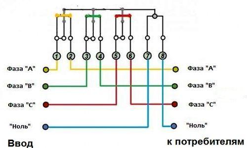 Схема покдлюяение счётчика